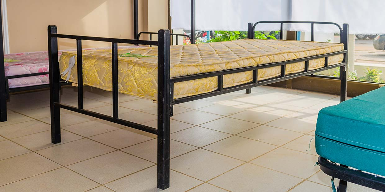 Picture of: Single Metal Bed Latex Foam
